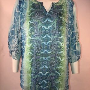 One World Globally Inspired Blouse Top